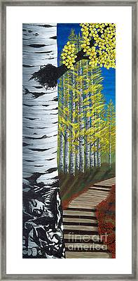 Walk Through Aspens Triptych 1 Framed Print