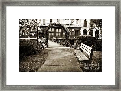 Walk Through Savannah Framed Print by John Rizzuto
