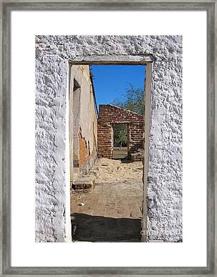 Walk Through Time - Todos Santos Framed Print by Amy Fearn
