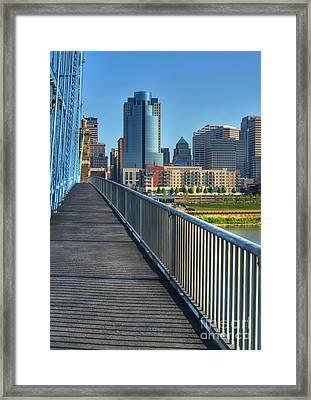 Walk To Cincinnati Framed Print by Mel Steinhauer