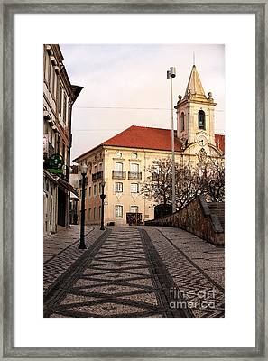Walk To The Church Framed Print