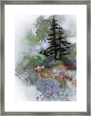 Walk To The Point Framed Print