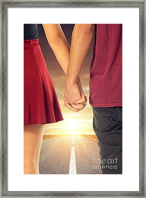 Walk With Me Framed Print by Carlos Caetano