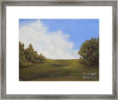 Framed Print featuring the painting Walk With Me by Christie Minalga