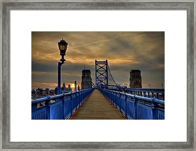 Walk With Me Framed Print by Evelina Kremsdorf