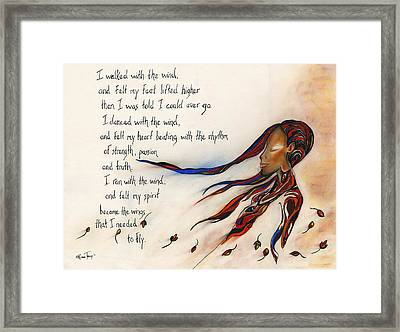 Walk With The Wind Framed Print