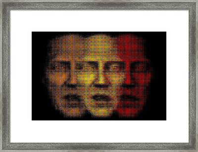Walken The Line Framed Print by Bobby Zeik