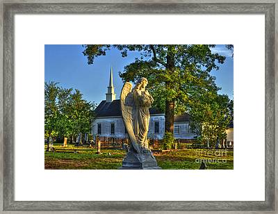 Walker Church Cemetery Angel Framed Print