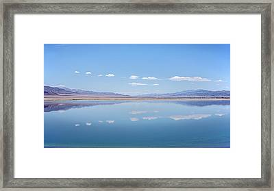 Walker Lake Mirror Framed Print by Jennifer Nelson