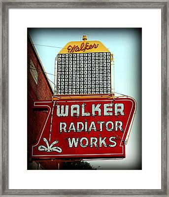 Walker Radiator Works Sign Framed Print