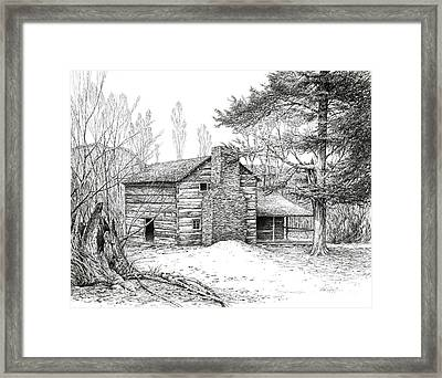 Walker Sisters' Farm House Framed Print