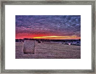 Walker Sunrise Framed Print by Reid Callaway