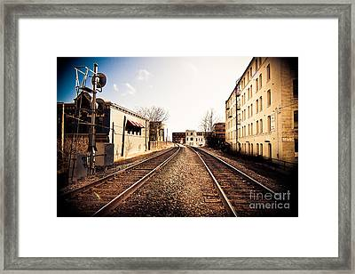 Walkers Point Railway Framed Print