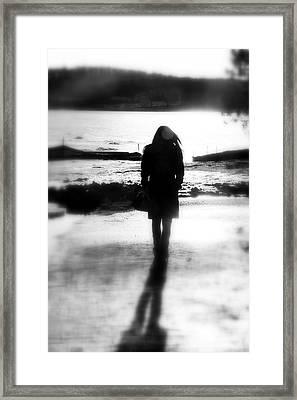Walking Alone Framed Print by Valentino Visentini