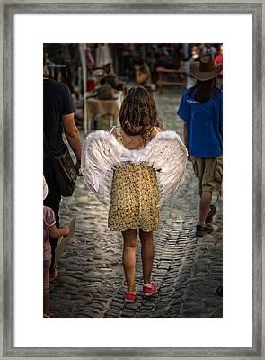 Walking Angel Framed Print by Dobromir Dobrinov