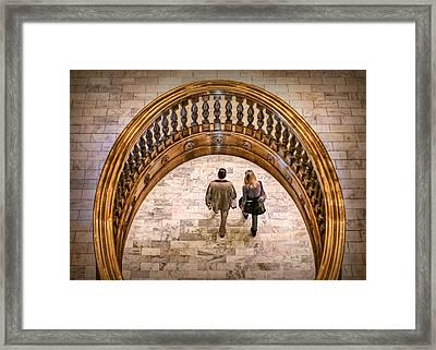 Walking Below Framed Print by Nikolyn McDonald