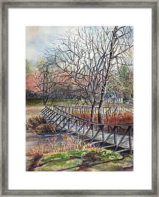 Walking Bridge Framed Print by Janet Felts