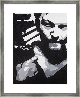 Walking Dead Daryl Close Framed Print