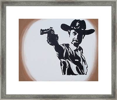 Walking Dead Rick Shoots Framed Print