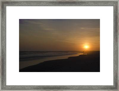 Walking Down The Beach Framed Print by Bill Cannon