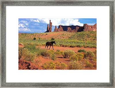 Walking Down The Road Framed Print by Pamela Schreckengost