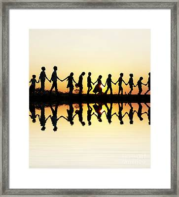 Walking Home Framed Print by Tim Gainey