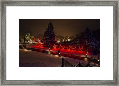 Walking In A Winter Wonderland Framed Print by Phil Abrams
