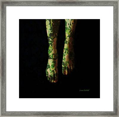 Walking In Clover Framed Print by Donna Blackhall