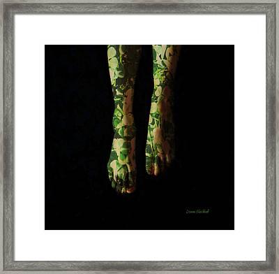 Walking In Clover Framed Print