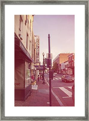 Walking In Georgetown Framed Print by Nicola Nobile