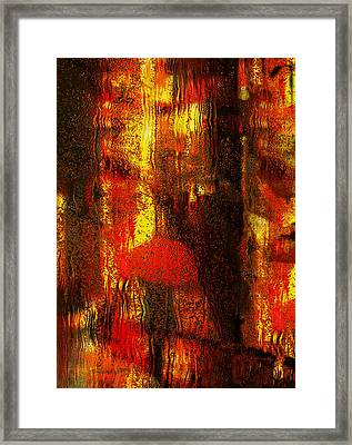 Walking In The Rain Framed Print by Jack Zulli