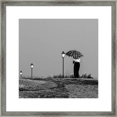 Framed Print featuring the photograph Walking In The Time by Edgar Laureano