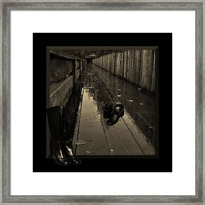 Walking In Their Shoes Framed Print