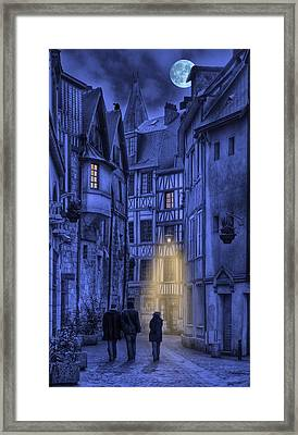 Walking Into The Past Framed Print