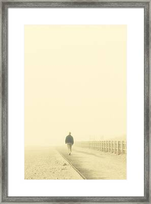 Walking Into The Unknown Framed Print by Karol Livote