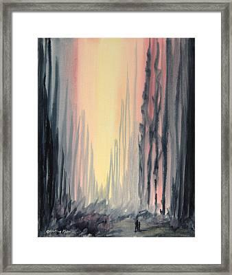 Walking Framed Print by Kristine Plum