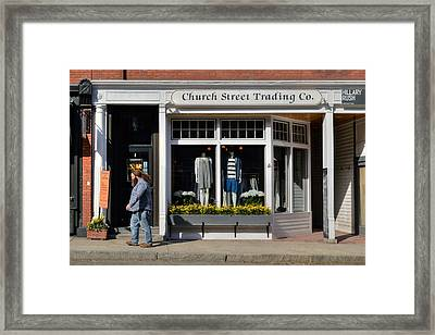 Walking Man - Great Barrington Framed Print by Geoffrey Coelho