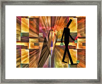 Walking Man Framed Print by Robert Maestas