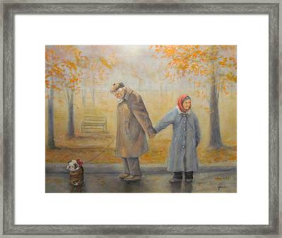 Walking Miss Daisy Framed Print