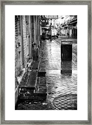 Walking On Bourbon Framed Print by John Rizzuto