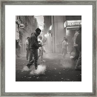 Walking On Clouds In Valencia Framed Print