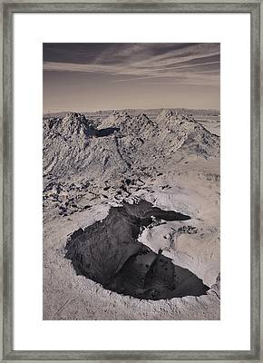 Walking On The Moon Framed Print by Laurie Search