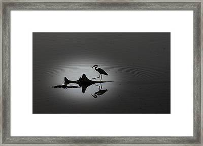 Walking On The Water Framed Print by Menachem Ganon
