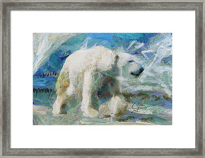 Framed Print featuring the painting Cold As Ice by Greg Collins