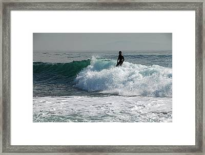 Walking On Water Framed Print by Donna Blackhall