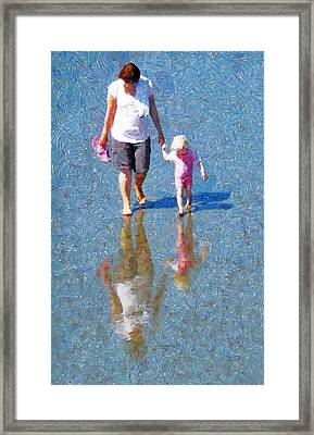 Walking On Water Framed Print by Steve Taylor