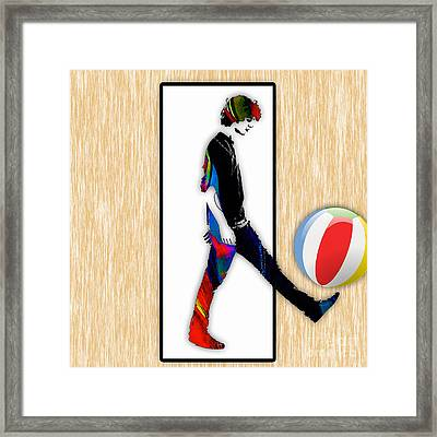 Walking Out Of Picture Frame Framed Print by Marvin Blaine
