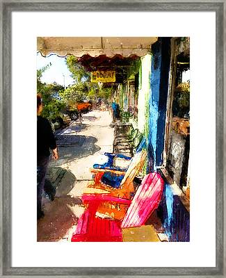 Walking Framed Print by Robert Smith