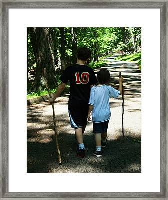 Framed Print featuring the photograph Walking Sticks by B Wayne Mullins