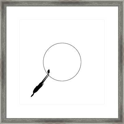 Walking The Circle! Framed Print by Huib Limberg